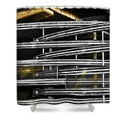 Zig Zag Barrier Shower Curtain