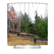 Zigzag Rail Fence Shower Curtain