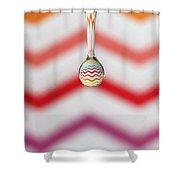 Zigzag Water Drop 3 Shower Curtain