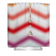 Zigzag Water Drop 4 Shower Curtain