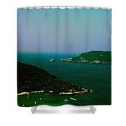 Zihuatanejo Harbor Shower Curtain