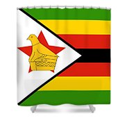 Zimbabwe Flag Shower Curtain