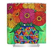 Zinnia Fiesta Shower Curtain