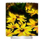 Zinnia Flower Shower Curtain