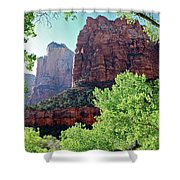 Zion Canyon Red Cliffs Shower Curtain