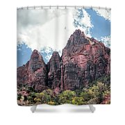 Zion Canyon Terrain Shower Curtain