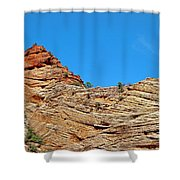 Zion Checkerboard Formations Shower Curtain