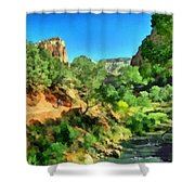 Zion In The Morning Shower Curtain