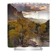Zion National Park Autumn Shower Curtain