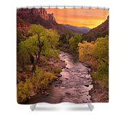 Zion National Park The Watchman Shower Curtain