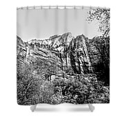 Zion National Park Utah Black White  Shower Curtain