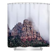 Zion Red Rock And Clouds Shower Curtain