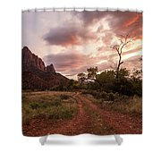 Zion Sunset Shower Curtain by Wesley Aston