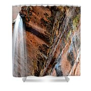 Zion Waterfall At Emerald Pools Shower Curtain
