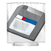 Zip Disk Shower Curtain