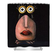 Zoe 2 The Little Alien Shower Curtain