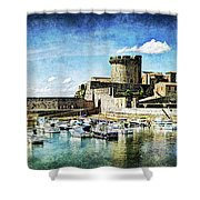 Zokoa Harbor Fortress - Vintage Version Shower Curtain