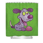 Zombie Puppy Shower Curtain