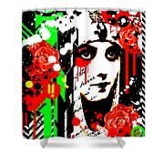 Zombie Queen Roses Shower Curtain