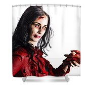 Zombie Shaking Severed Hand Shower Curtain