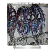 Zombie Trio Shower Curtain