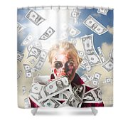 Zombie With Crazy Money. Filthy Rich Millionaire Shower Curtain