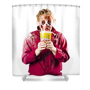 Zombie Woman With Popcorn Shower Curtain