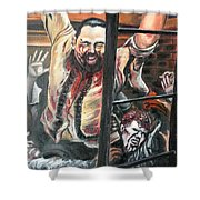 Zombies Attack Shower Curtain