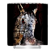 Zombified Horse Shower Curtain