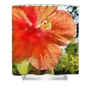 Zoo Flower Shower Curtain