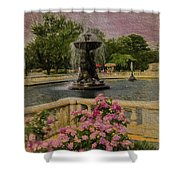 Zoo Fountain 2 Shower Curtain