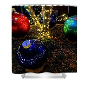 Zoo Lights Ornaments Shower Curtain