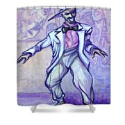 Zoot Suit Shower Curtain by Kevin Middleton