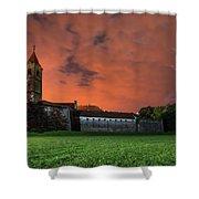Zrinskis' Castle 2 Shower Curtain by Davor Zerjav