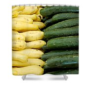 Zucchini On Display At Farmers Market 2 Shower Curtain