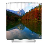 Zugspitz And Riessersee Garmish Germany Shower Curtain