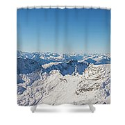 Zugspitze Observatory Panorama Shower Curtain