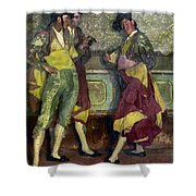 Zuloaga: Bullfighters Shower Curtain