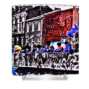 Zulu Krewe In Red And Blue Shower Curtain