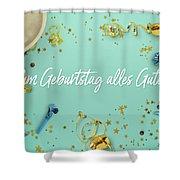 Zum Geburtstag Alles Gute Party Scene Layflat Shower Curtain