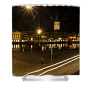 Zurich At Night Shower Curtain