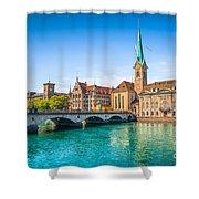 Zurich City Center Shower Curtain
