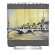 Zurich Sunset- Switzerland Shower Curtain