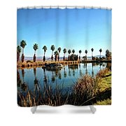 Zyzzx Lake Shower Curtain