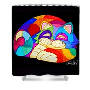 Zzzzzzzzzzzz Cat Shower Curtain