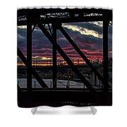 008 - Trestle Sunset Shower Curtain