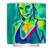 03_young Girl Portrait Shower Curtain