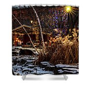 033 - Mears In Winter Shower Curtain