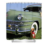 1947 Chrysler Town And Country Woody Shower Curtain