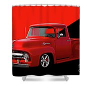 1956 Ford F100 Stepside Pickup Shower Curtain